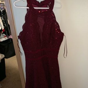 Burgundy Hoco Dress